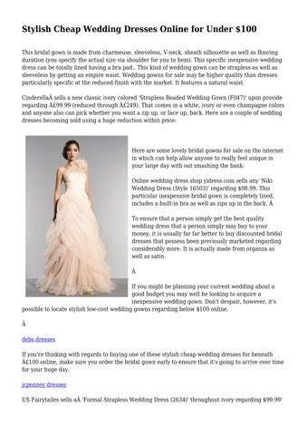 Stylish Cheap Wedding Dresses Online For Under 100 By