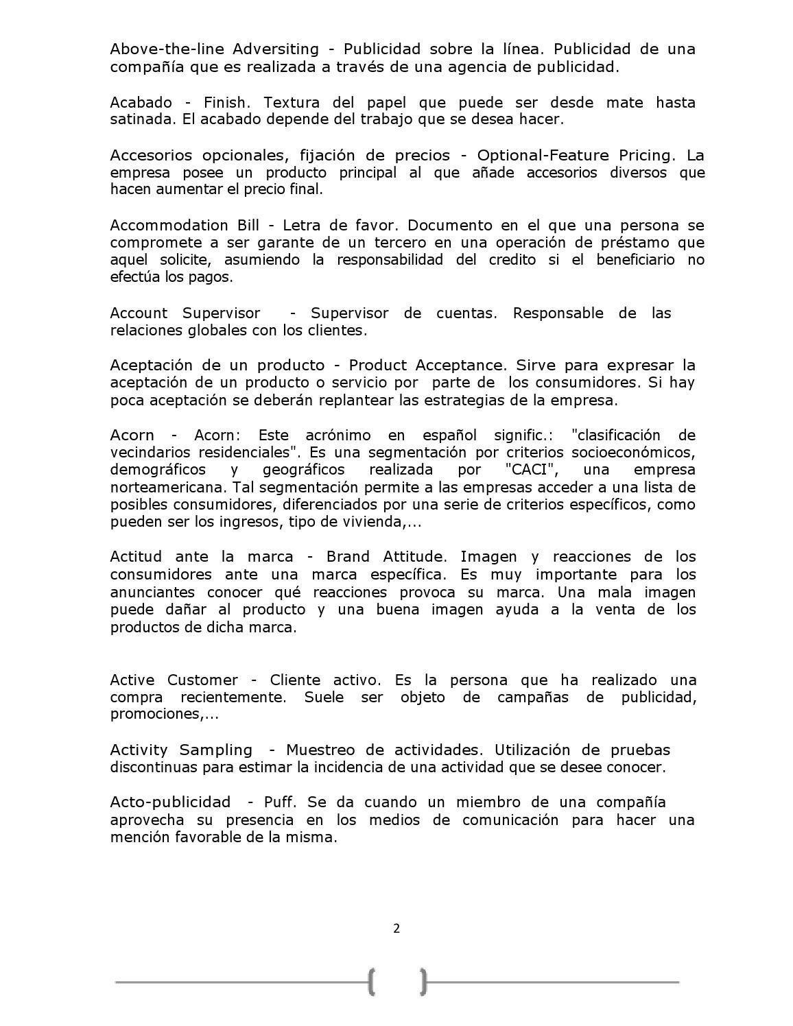 Diccionario de marketing by Daniel Gonzalez - issuu