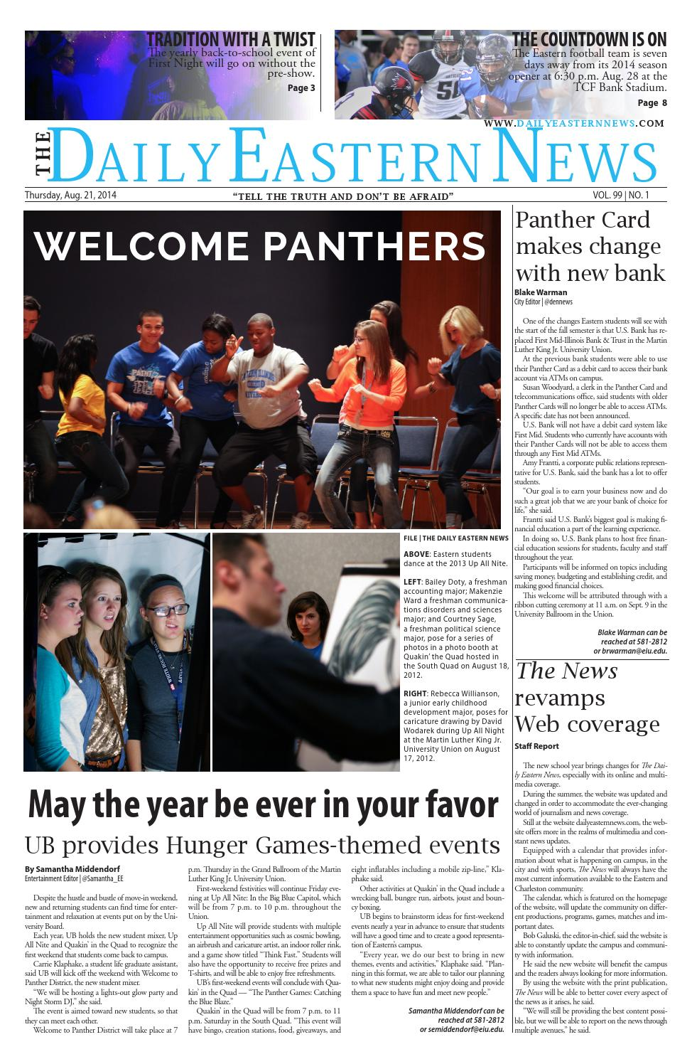 8 21 by The Daily Eastern News - issuu