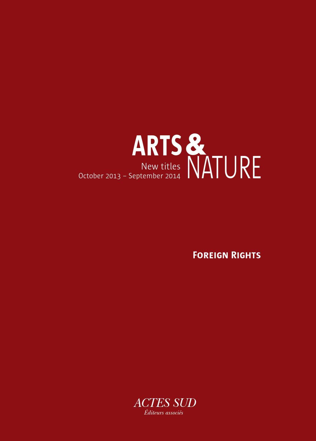 Imprimerie De L Ouest Parisien catalog 2014 arts and nature – foreign rightsactes sud