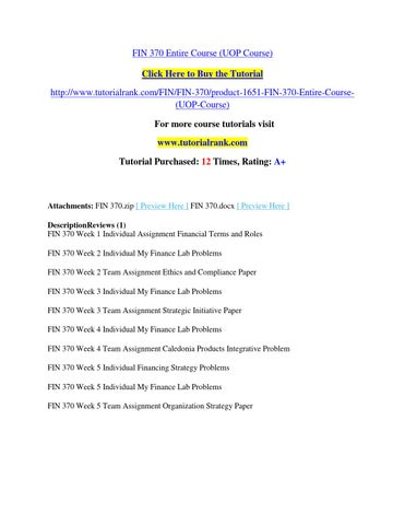 fin 370 caledonia products Homework minutes username forgot  fin 370, finance for business complete course with myfinancelab  fin 370 week 4 assignment, caledonia products.