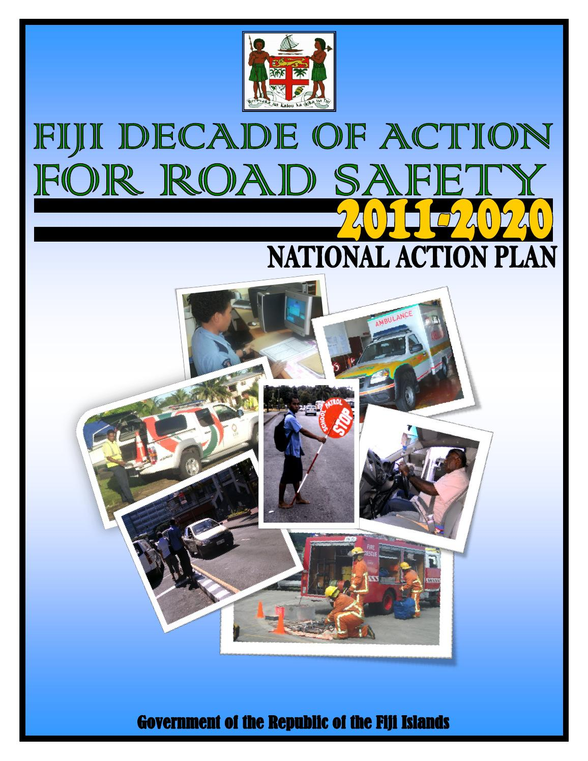 Decade of action for road safety bookle by Fiji Roads