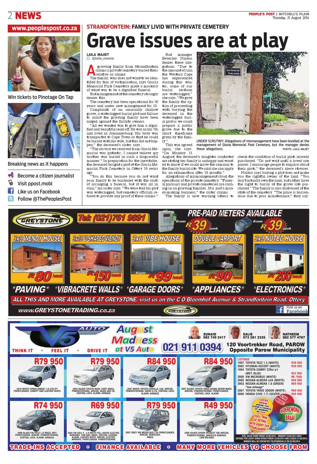 Peoples post mitchells plain 21 aug 2014 by People's Post