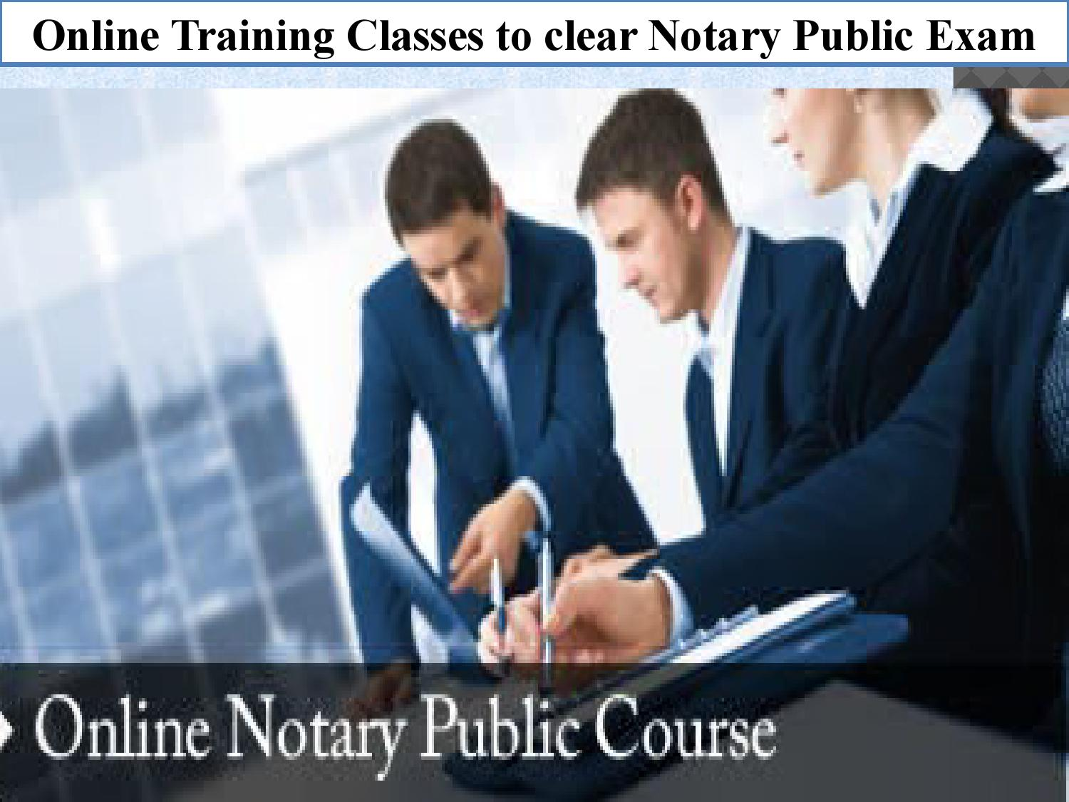 Online Training Classes to clear Notary Public Exam by ...