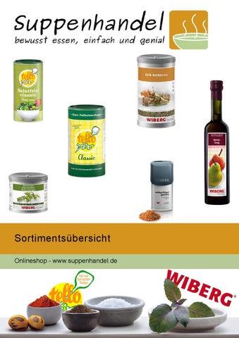 Sortiment Tellofix Und Wiberg Bei Suppenhandelde By Suppenhandel