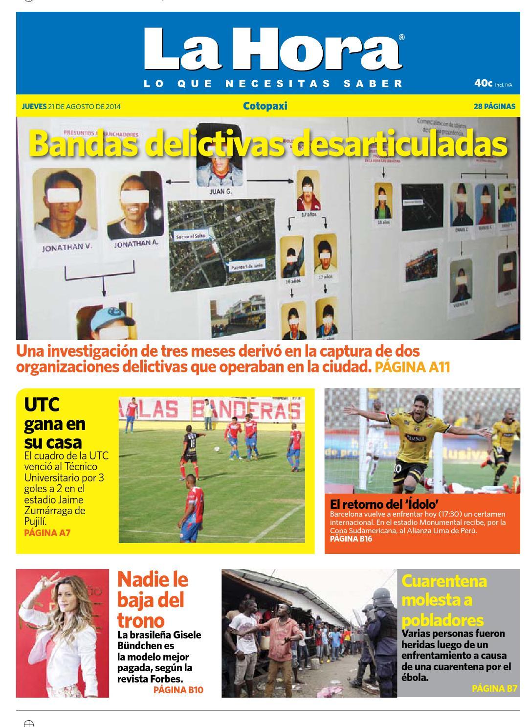 Cotopaxi 21 agosto 2104 by Diario La Hora Ecuador - issuu