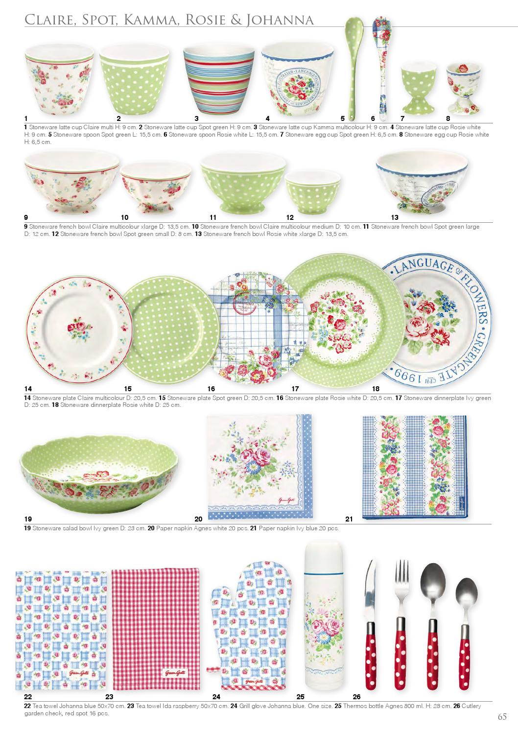 Greengate Handmade Stoneware Catalouge Kataloge Verschiedene