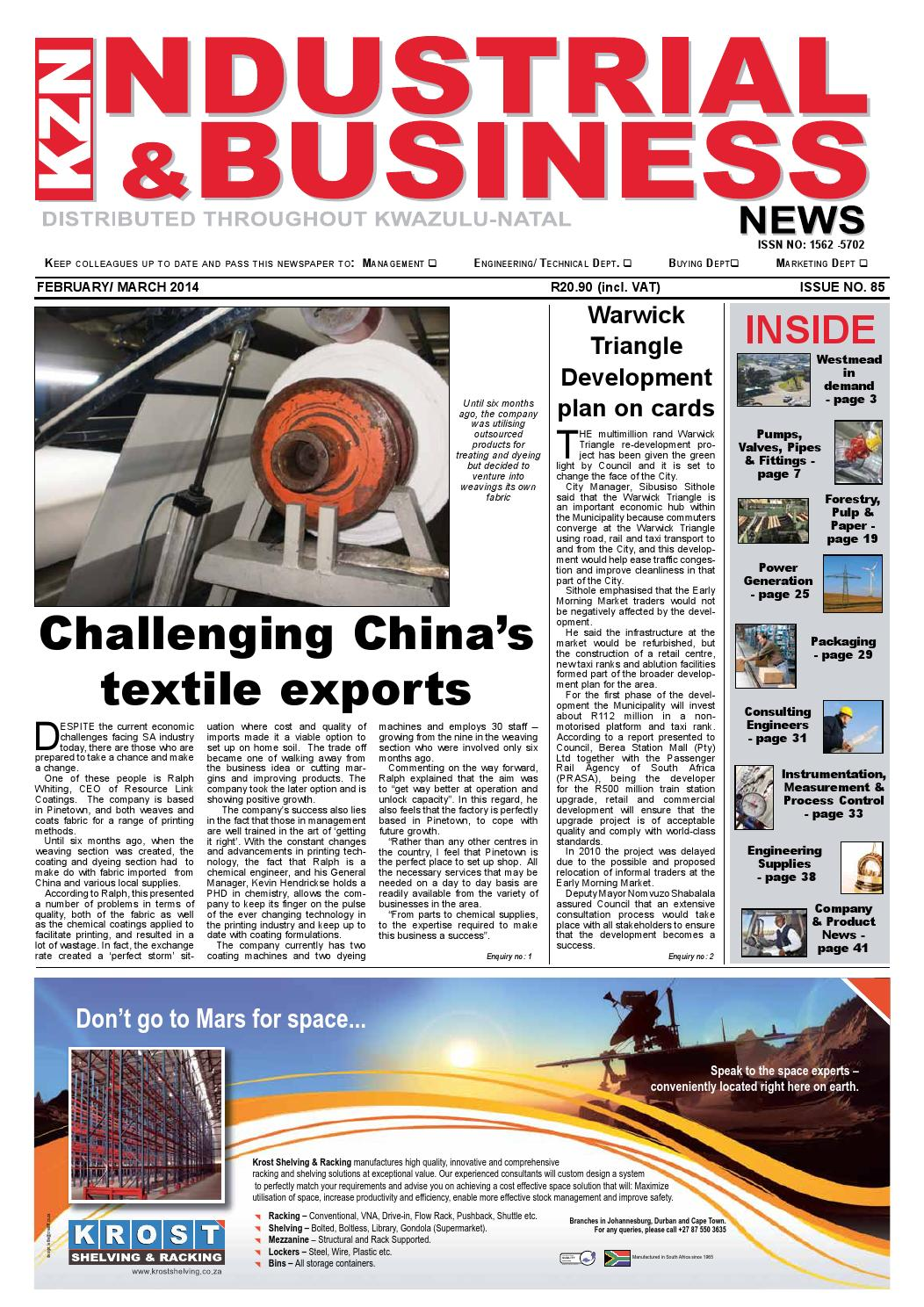 Kzn Industrial Business News Issue 85 By The Media Events Wiring Diagram Trailer Spares For Sale Venter Company Issuu