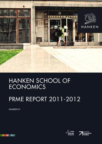 Hanken PRME Report 2011-2012 by Hanken School of Economics - Issuu