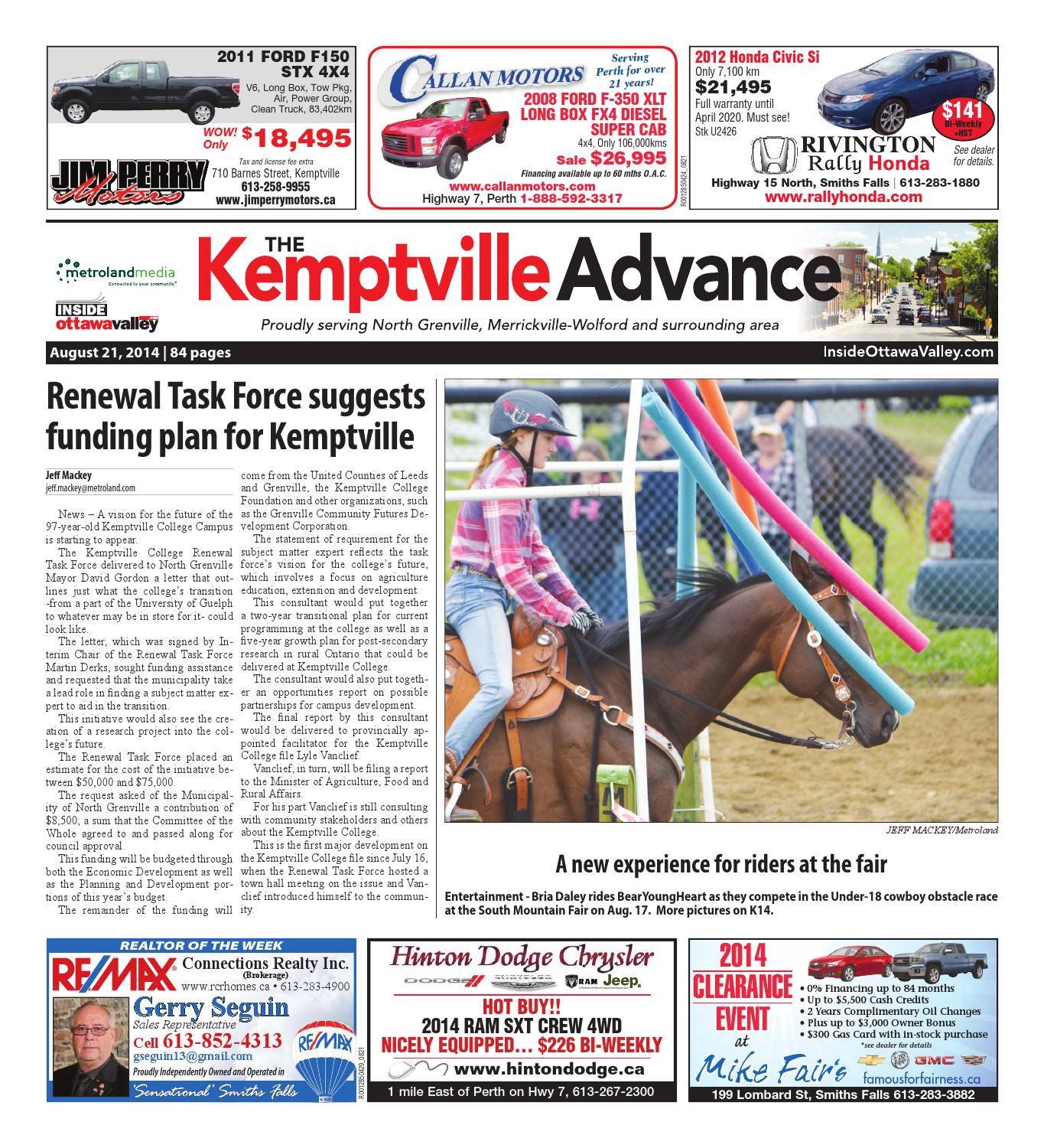 Kemptville082114 by metroland east kemptville advance issuu fandeluxe Image collections