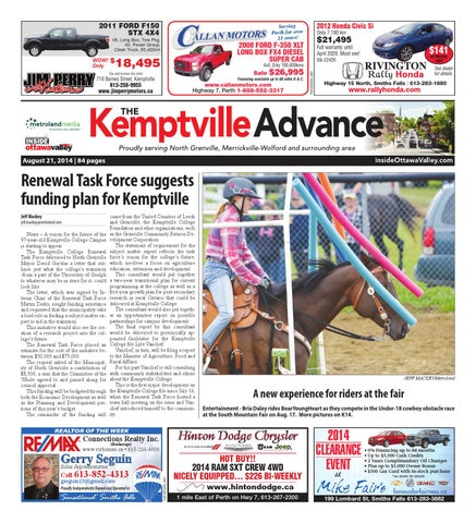 Kemptville082114 by metroland east kemptville advance issuu 2011 ford f150 stx 4x4 v6 long box tow pkg air power group clean truck 83402km fandeluxe Gallery
