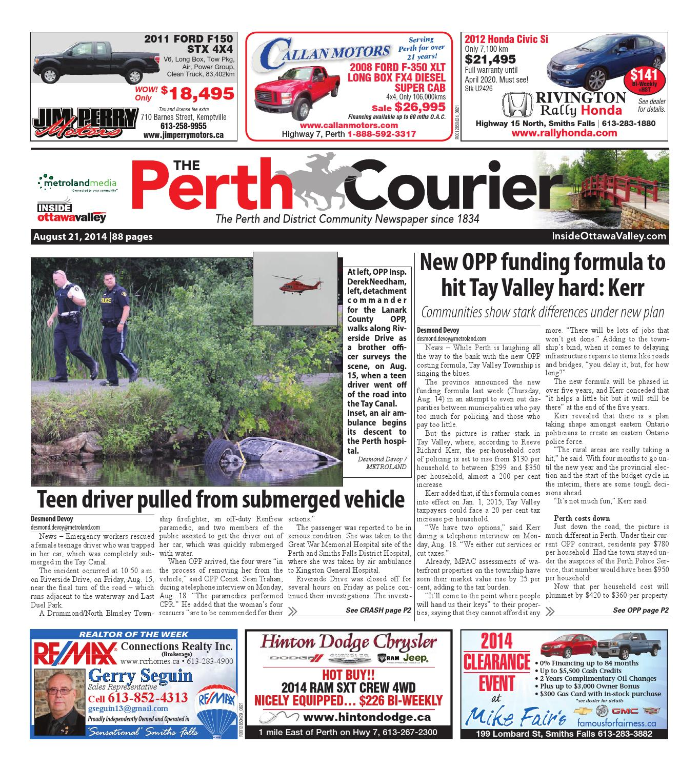 Perth082114 by metroland east the perth courier issuu fandeluxe Choice Image