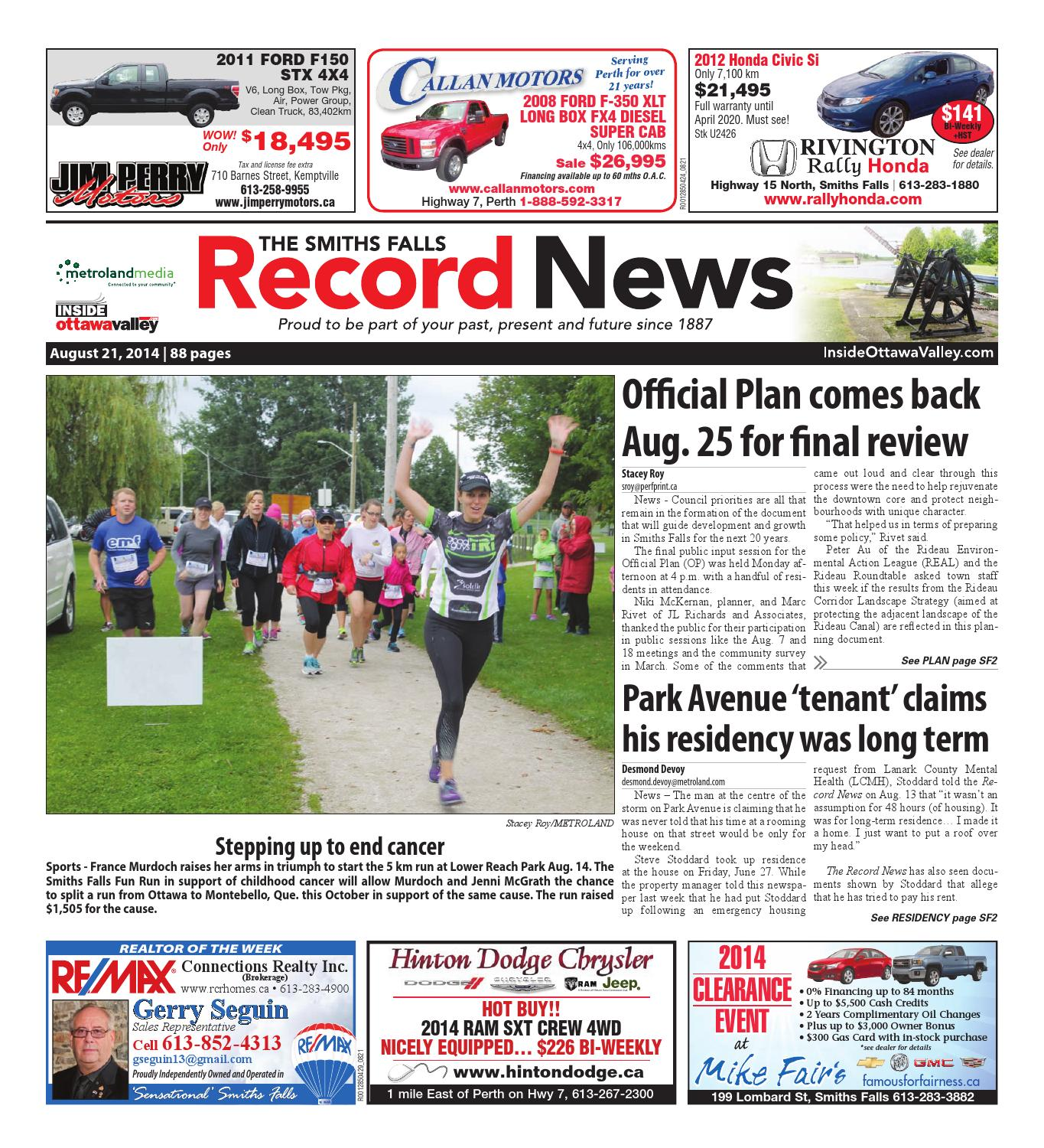 Smithsfalls082114 2 By Metroland East Smiths Falls Record News Issuu Published2011 9 28 43300 Authorrebekka Keyword Four Way Remote
