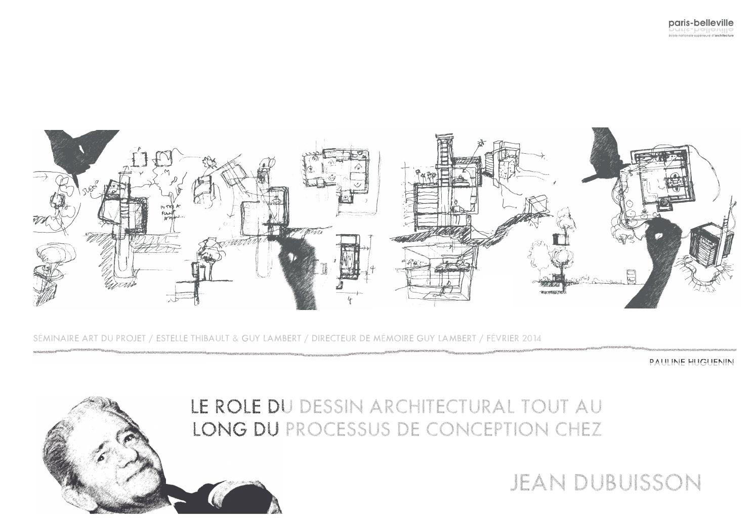 Memoire le r le du dessin architectural chez jean for Architecture organique exemple