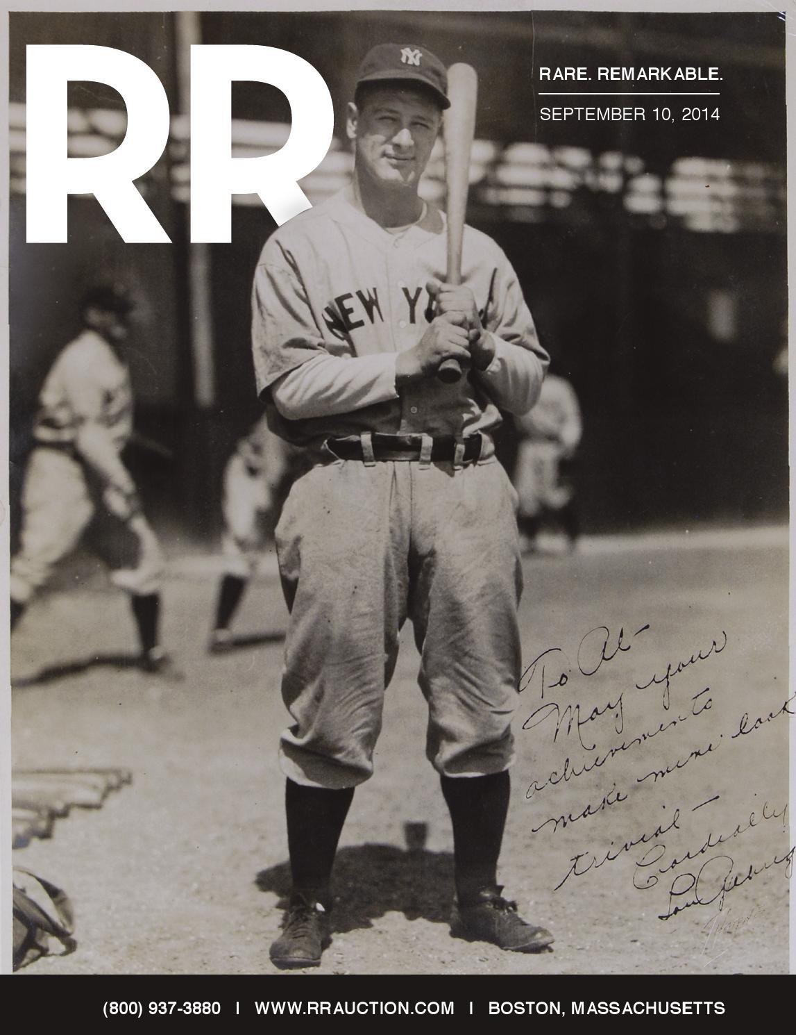 Rr Autograph Auctions Consignment Agreement: RR Auction: September 2014 Rare Manuscript, Document, And