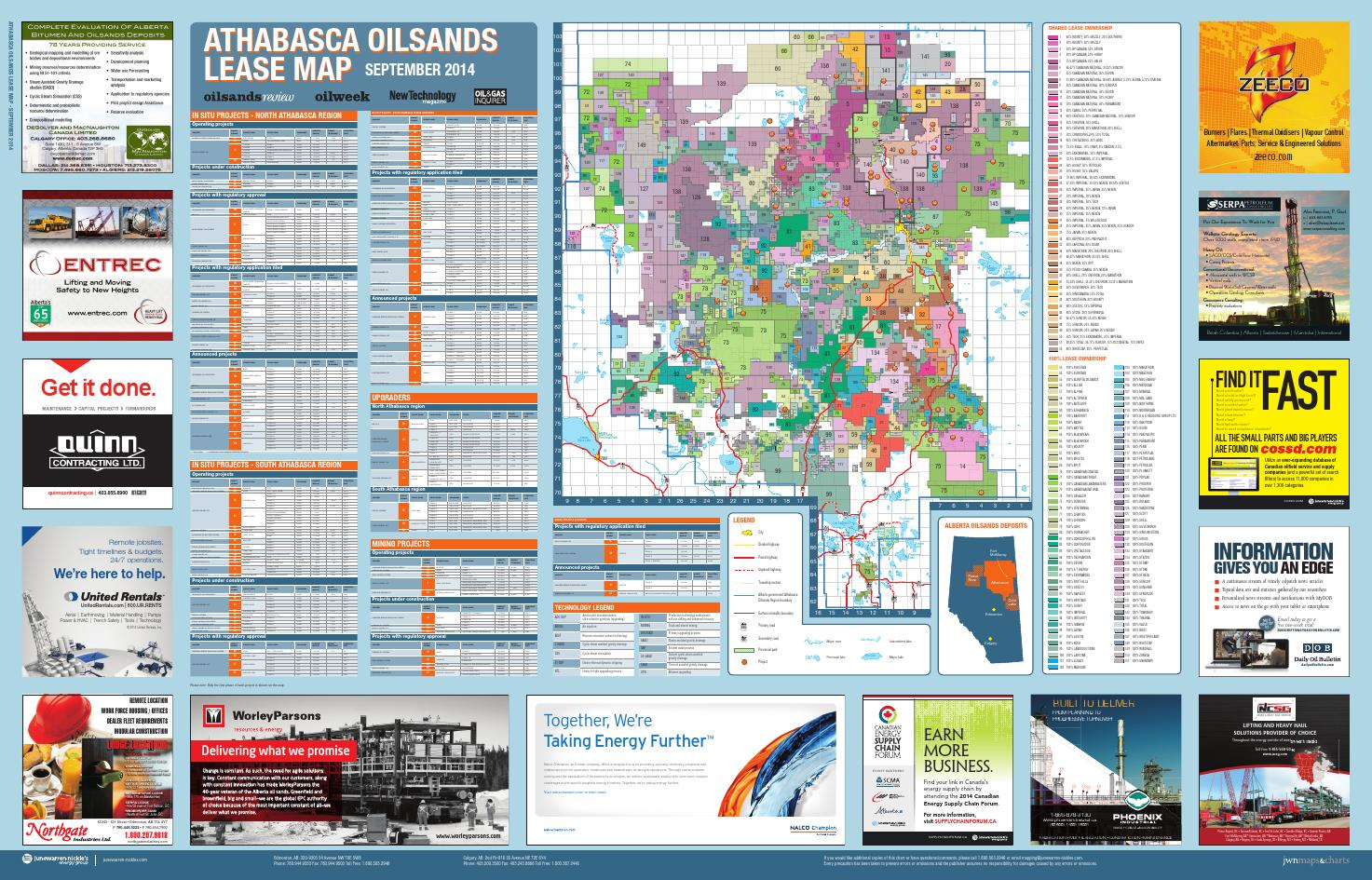 Athabasca Oilsands Lease Map 2014 by JWN | Trusted energy