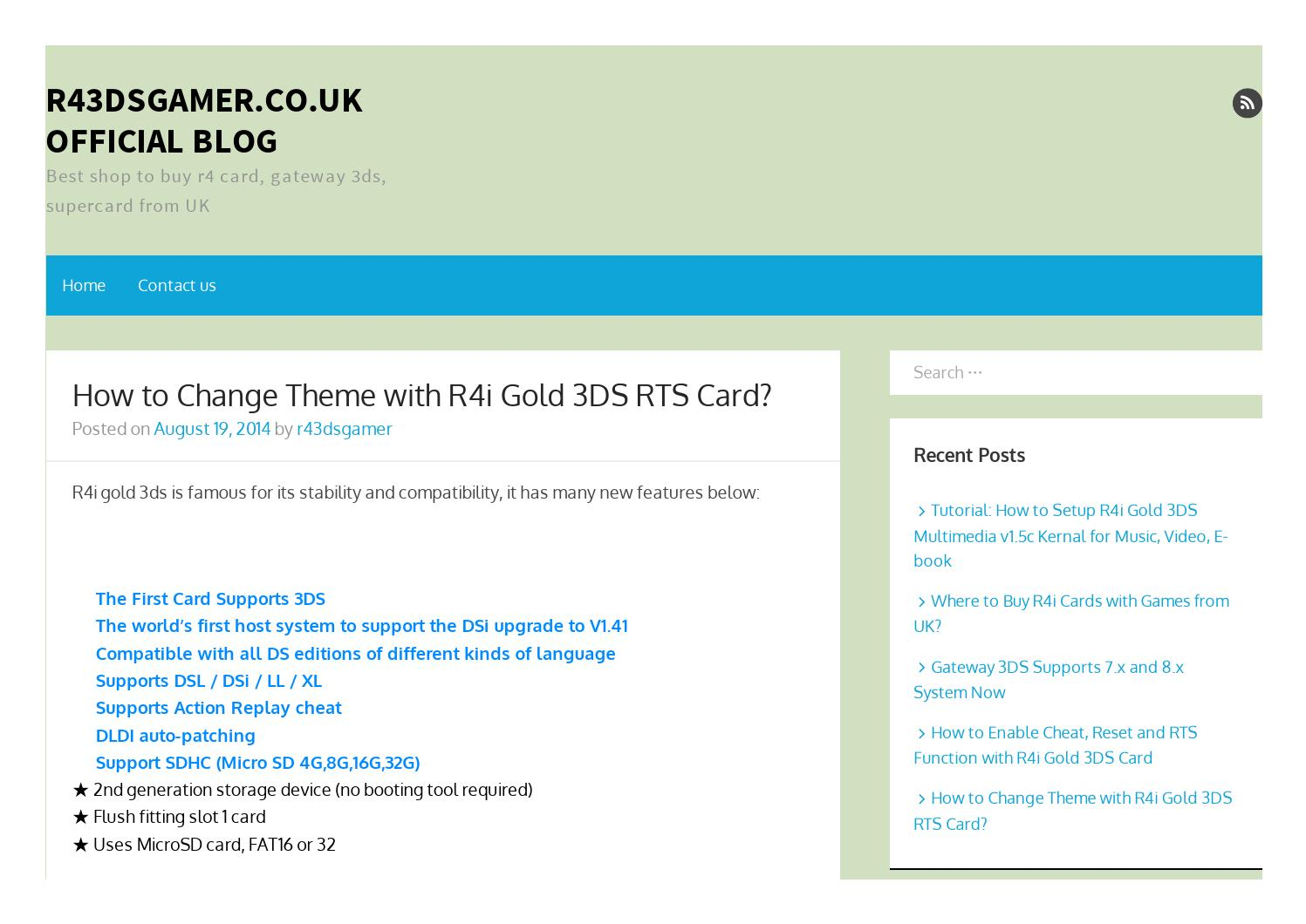 How to change theme with r4i gold 3ds rts card r43dsgamer co uk by