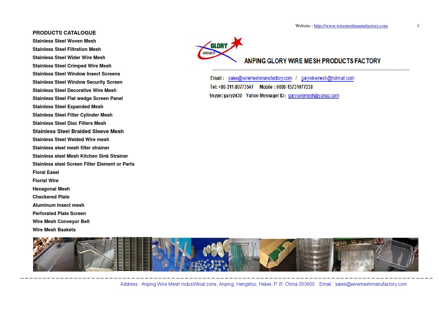Products list of glory wire mesh products factory by Gary yan - issuu