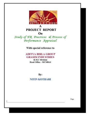 24456013 Aditya Birla Group Project Report By Jai Yadav Issuu