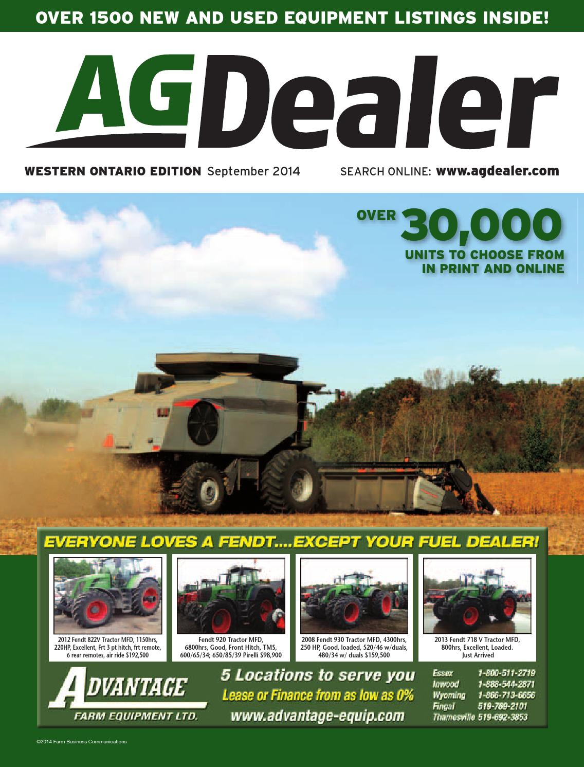 AGDealer Western Ontario Edition, September 2014 by Farm Business  Communications - issuu