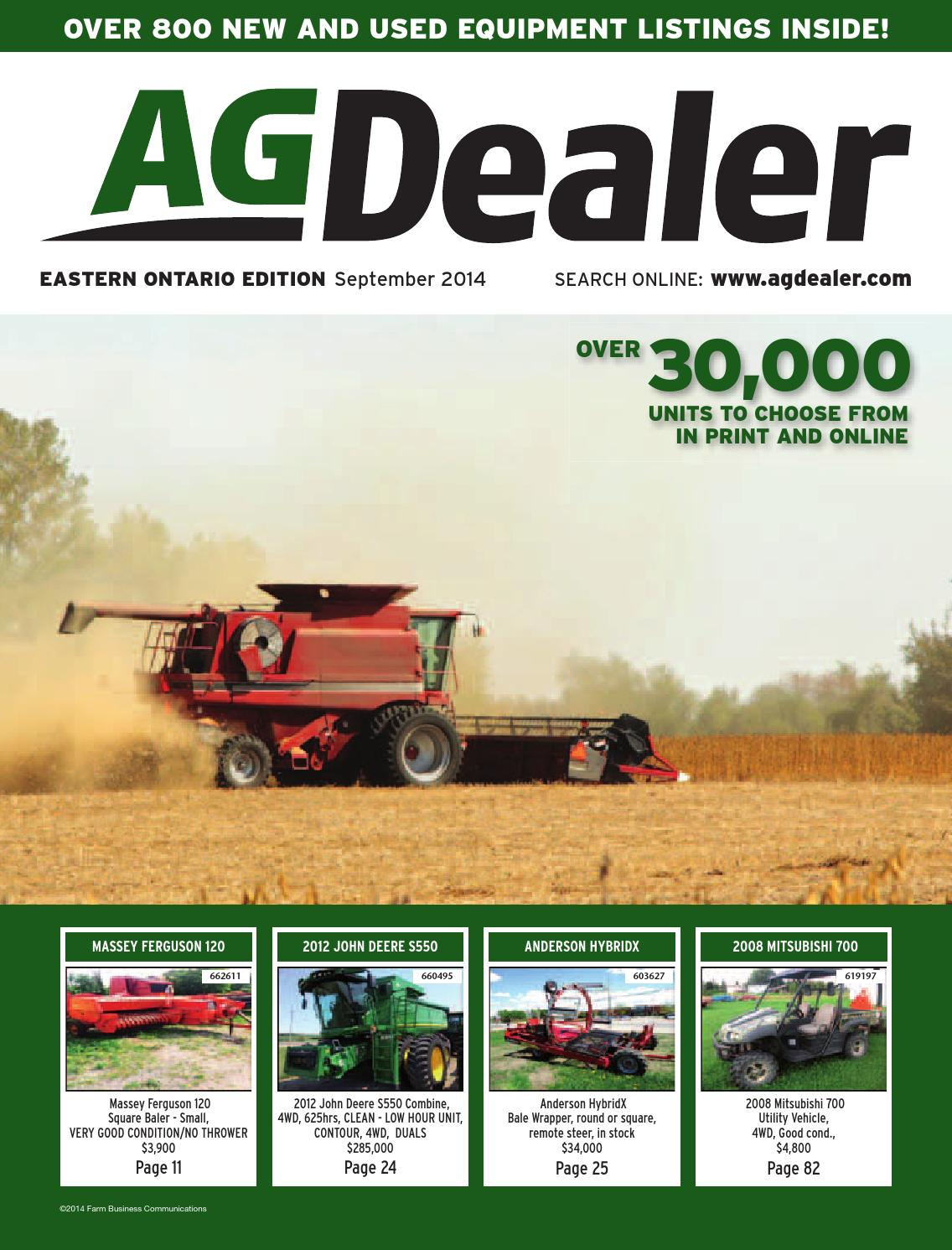 AGDealer Eastern Ontario Edition, September 2014 by Farm Business  Communications - issuu