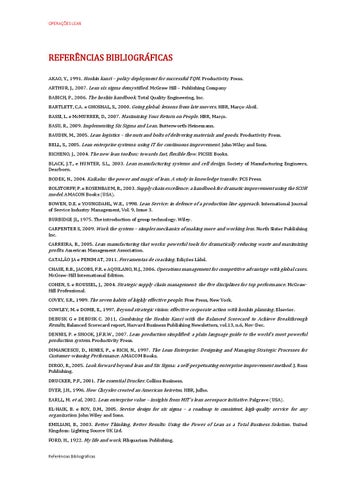 Referencias Bibliográficas Lean Management By Clt Services