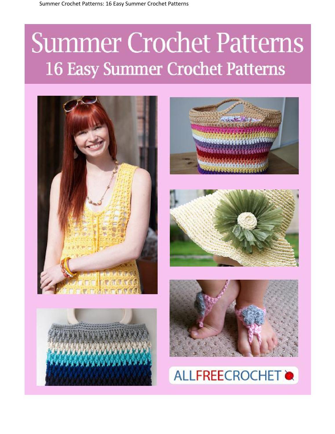 Summer Crochet Patterns 16 Easy Summer Crochet Patterns By Teresa