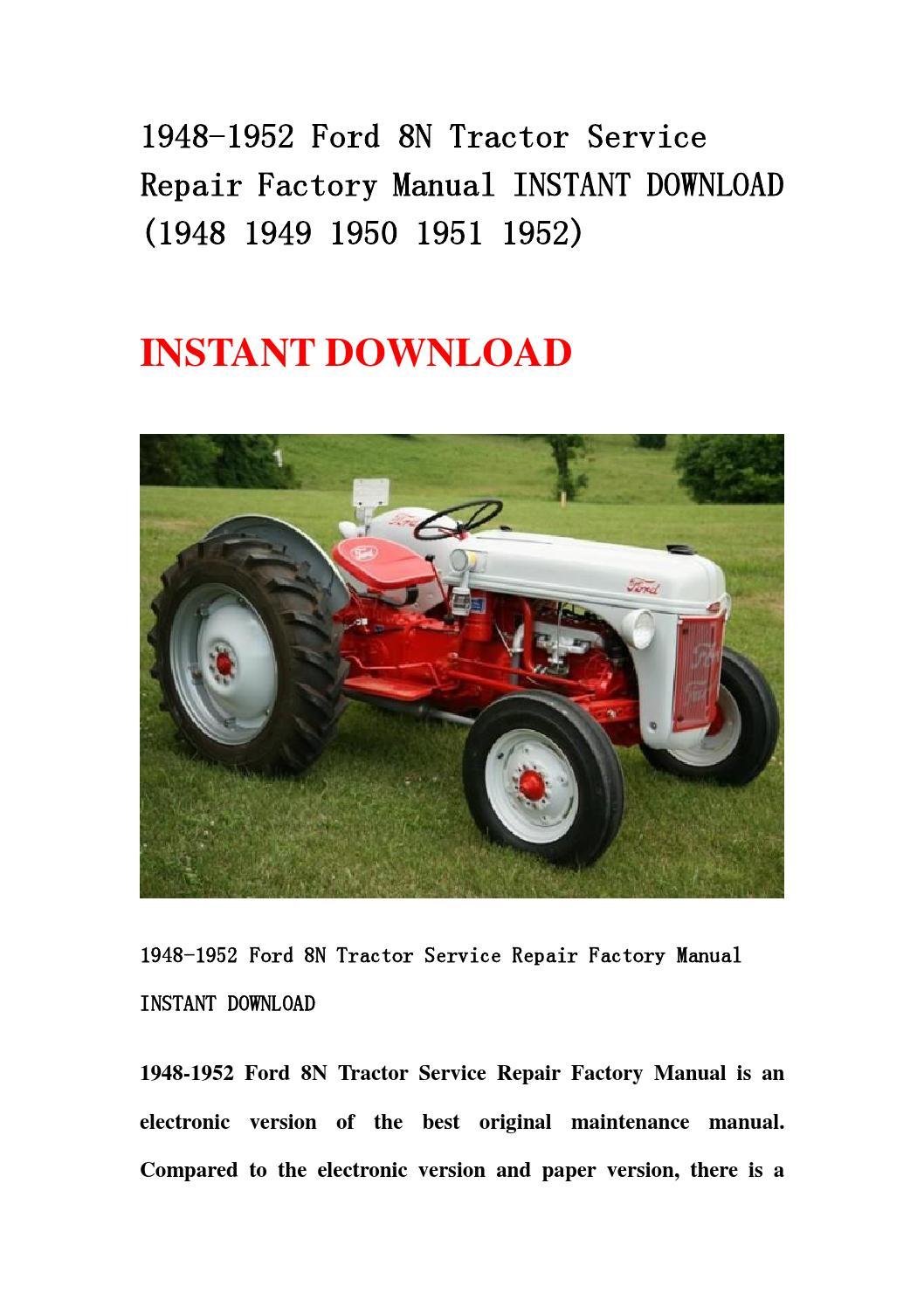 1948 Ford Tractor Parts Is Your Car 8n Diagram 1928 Repair Manual Good Owner Guide Website