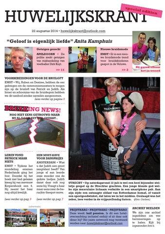 Geliefde Huwelijkskrant Judith Patrick by Studio Spuk - issuu &GY65