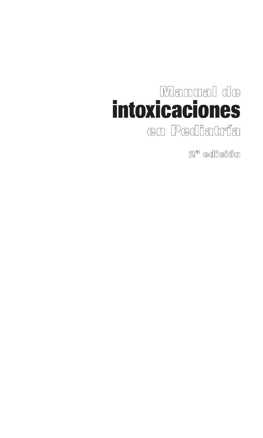 Intoxicaciones%20en%20pediatria by Formacion222 - issuu