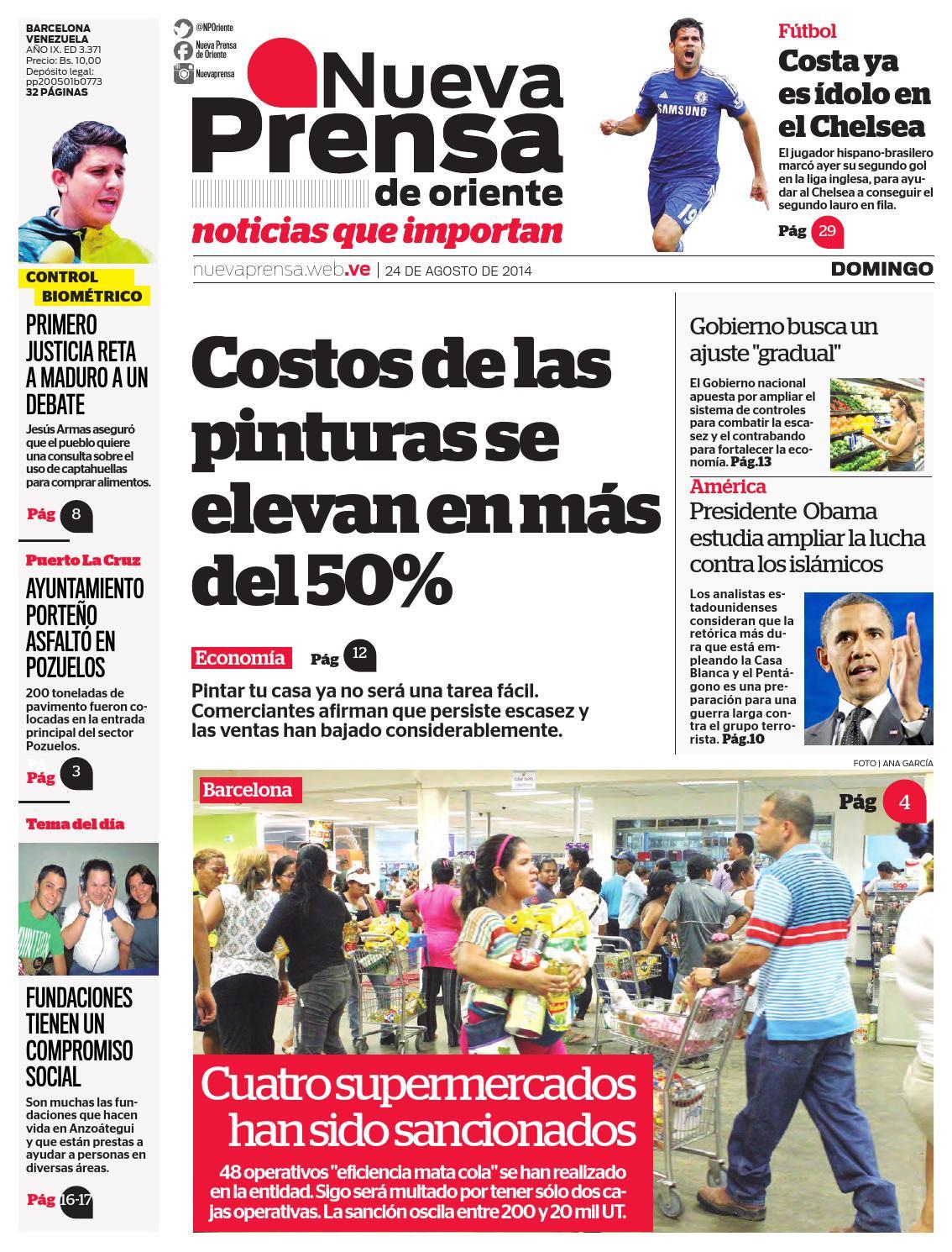 24 DE AGOSTO DE 2014 by Nueva Prensa de Oriente - issuu 2c62660bac725