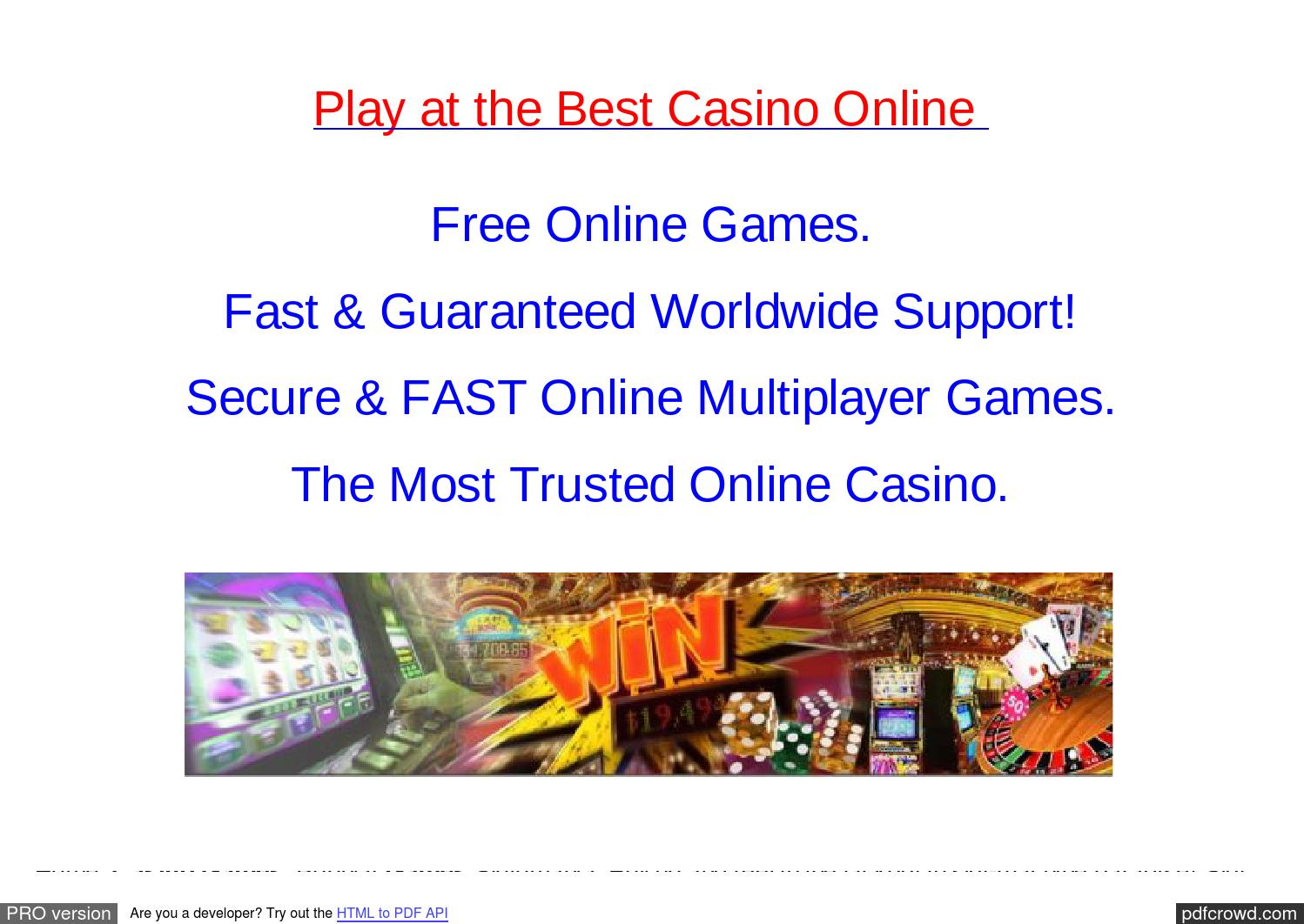 Casino for free slots