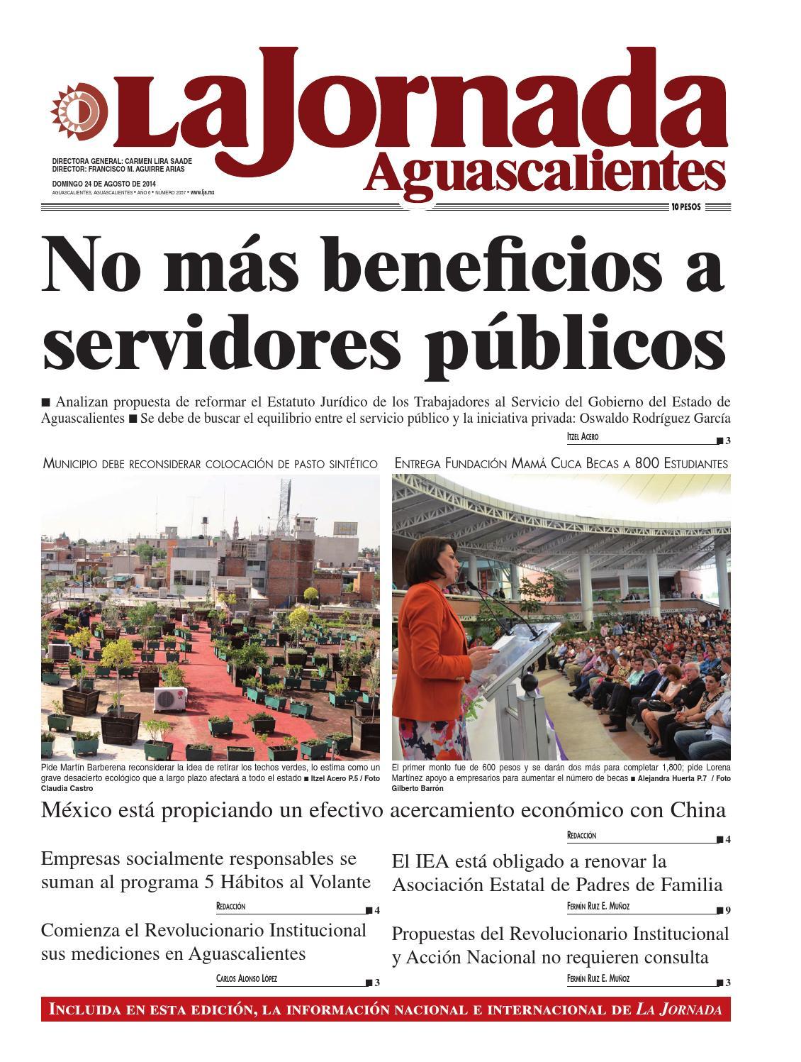 LJA24082014 by La Jornada Aguascalientes - issuu