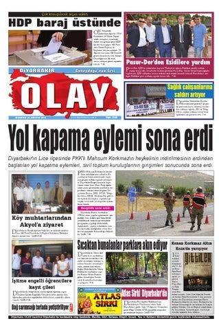 23 08 2014 Gazete Sayfalari By Diyarbakir Olaygazetesi Issuu