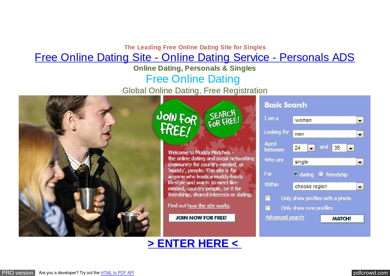 Free online dating site in canada