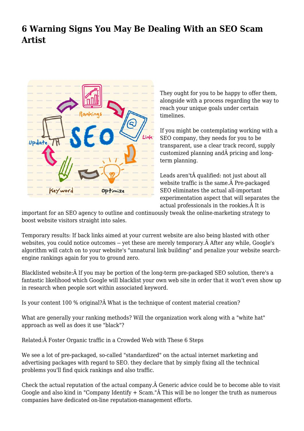 Even With Warning Signs These Traffic >> 6 Warning Signs You May Be Dealing With An Seo Scam Artist By