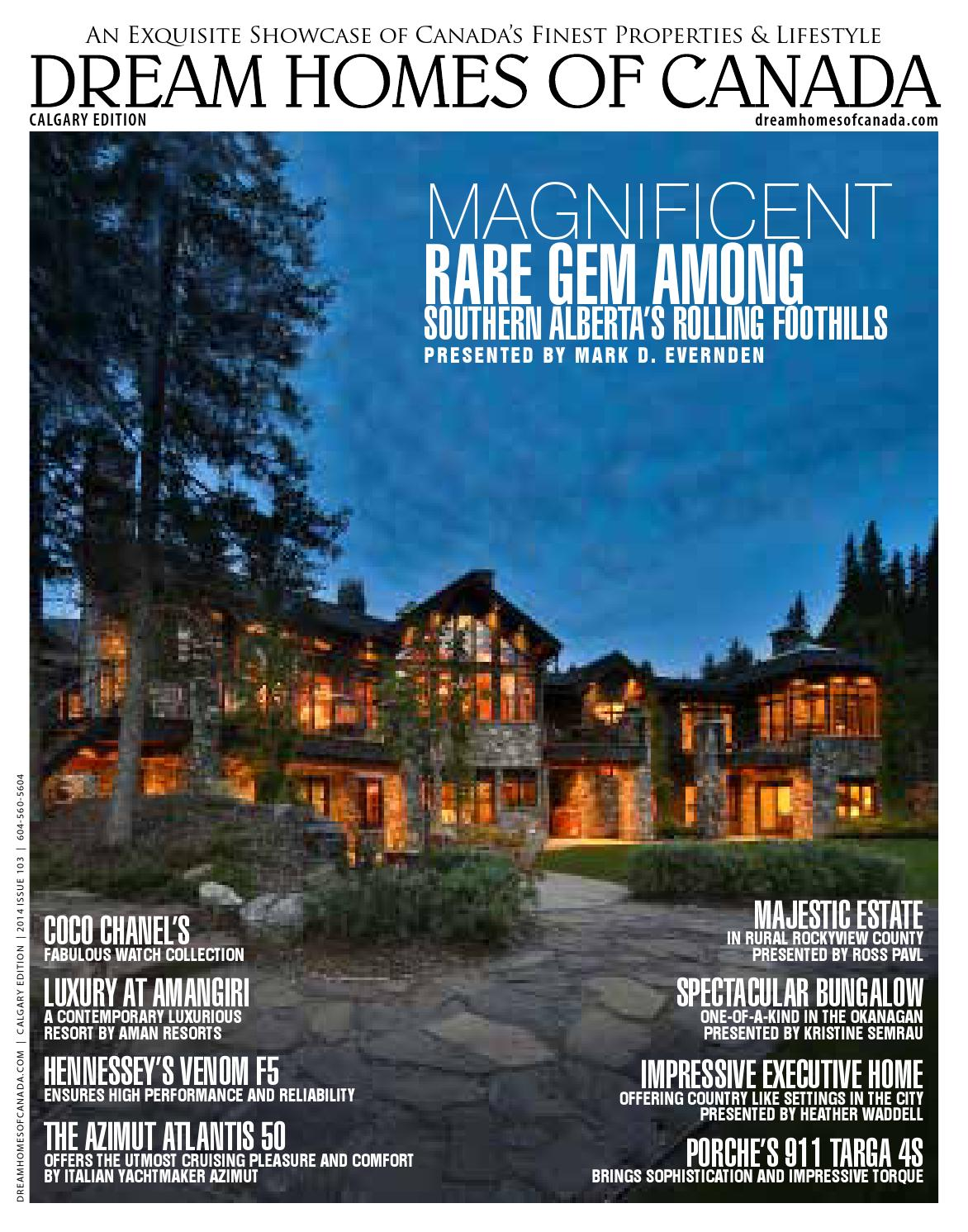 Dream Homes of Canada - Alberta Edition - Issue 103 by Luxe Media ...