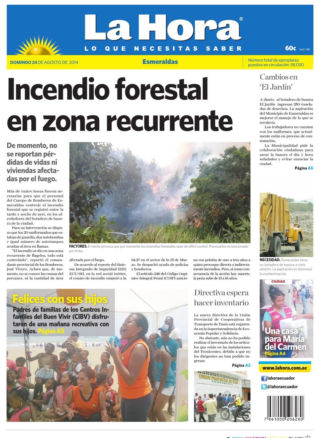 Diario La Hora Esmeraldas 24 de agosto del 2014 by Diario La Hora Ecuador -  issuu 600a0813d71f3
