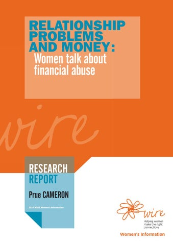 wire research report relationship problems and money women talk
