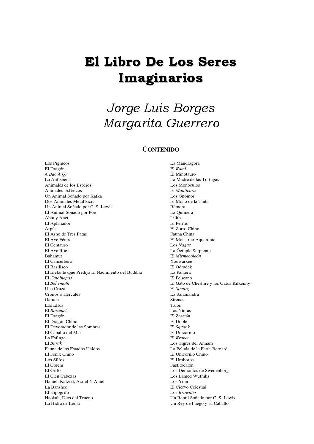 El libro de los seres imaginarios / Borges by REVISTA EL