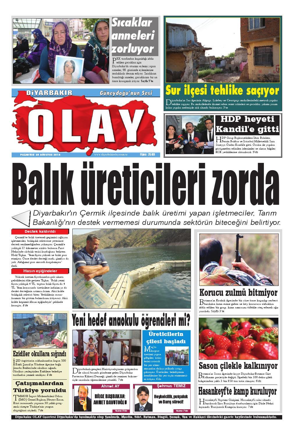 25 08 2014 Gazete Sayfalari By Diyarbakir Olaygazetesi Issuu