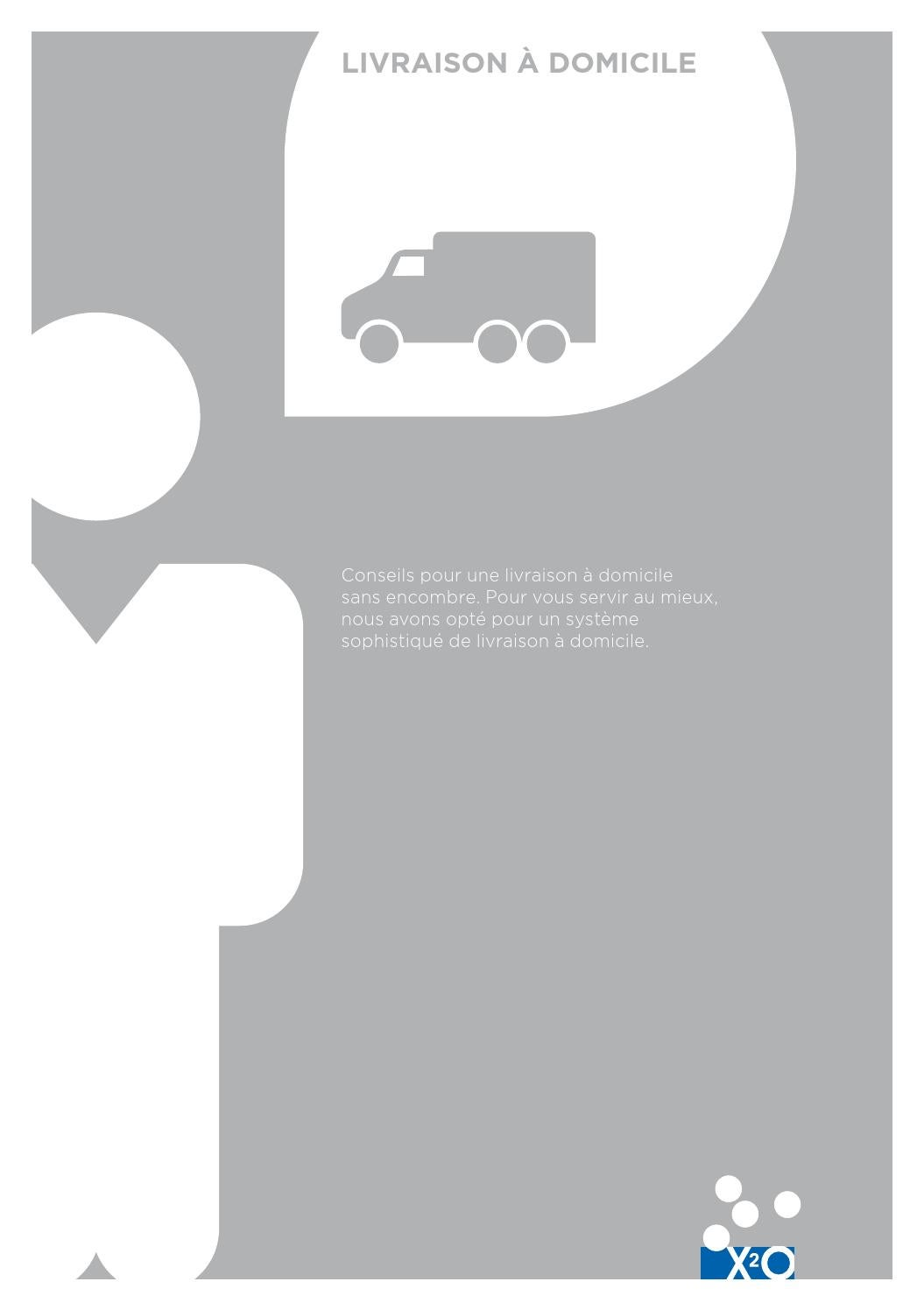 x2o folder livraison domicile by x2o sanitary issuu. Black Bedroom Furniture Sets. Home Design Ideas