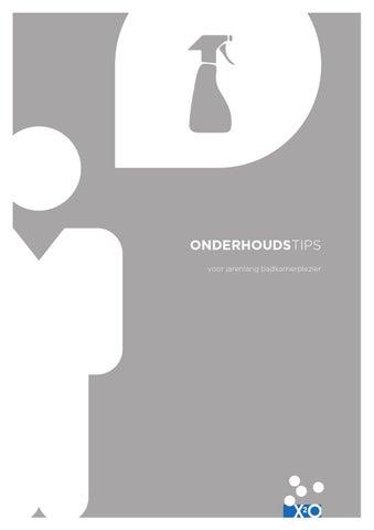 X2O-brochure onderhoudstips nl by X2O Sanitary - issuu