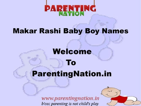 Makar Rashi Baby Boy Names With Meanings by pooja abbacus