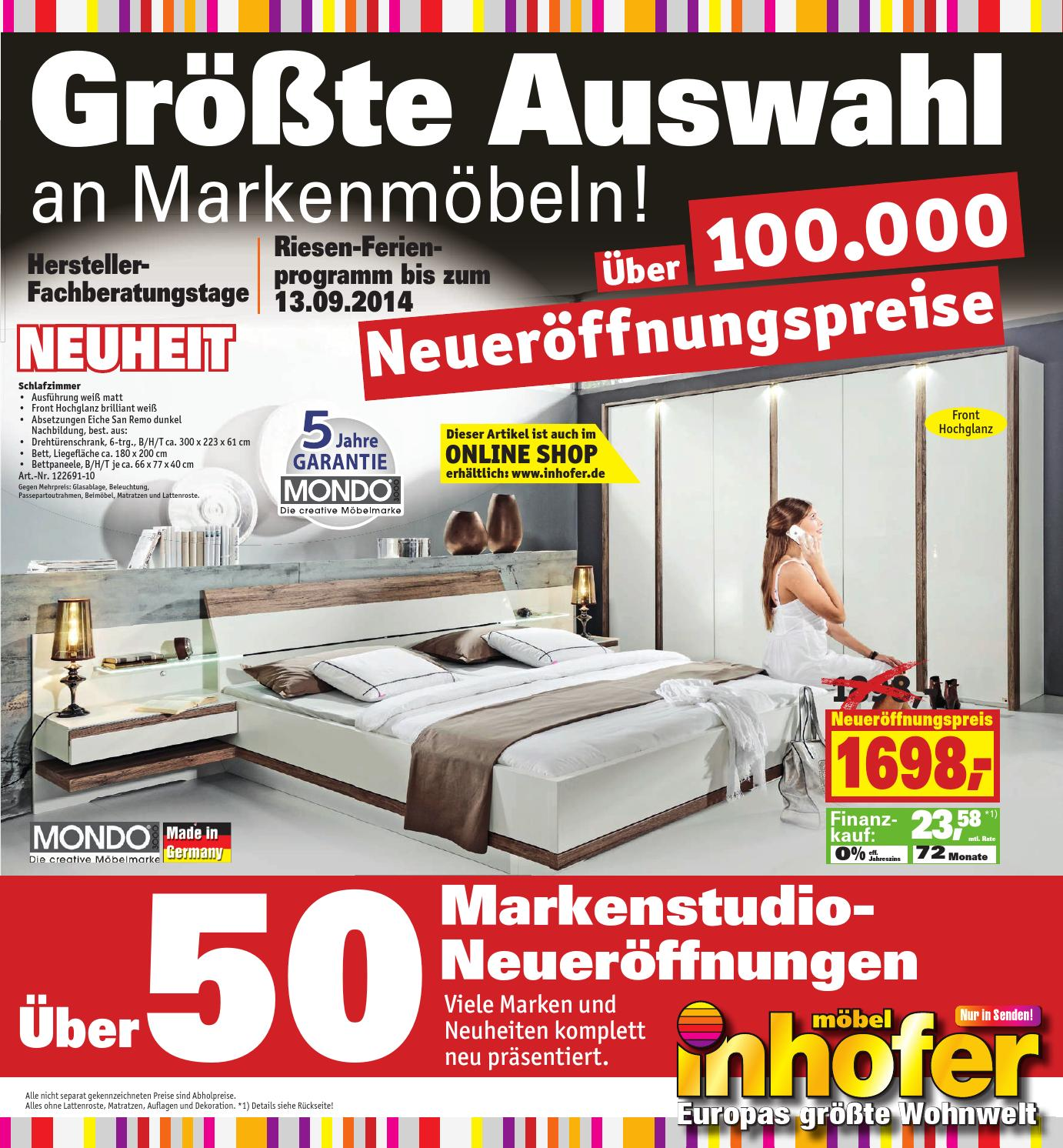 inhofer gr te auswahl an markenm beln by media service ostalb gmbh issuu. Black Bedroom Furniture Sets. Home Design Ideas