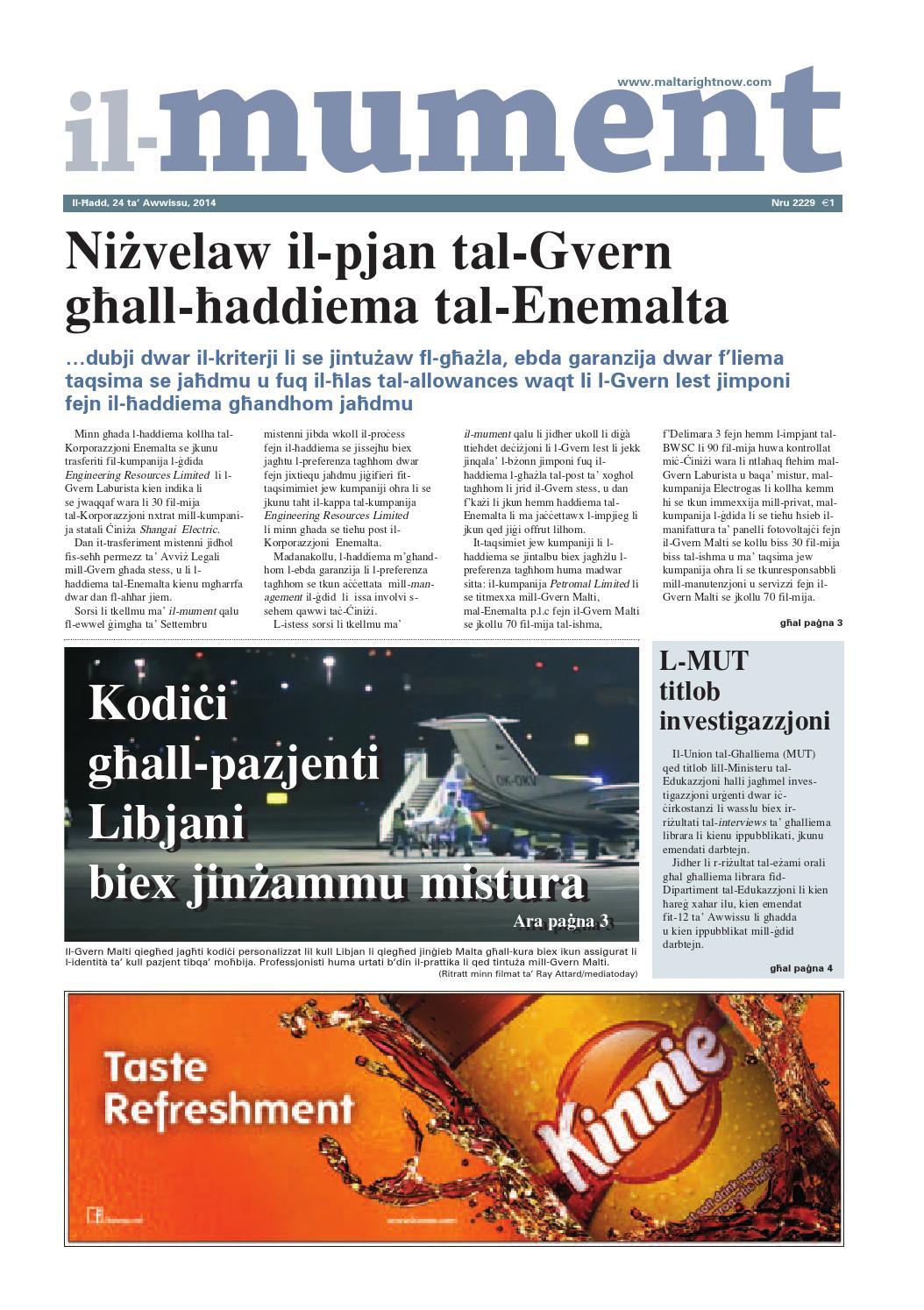 Il-Mument 24 ta' Awwissu 2014 by maltarightnow dotcom - issuu