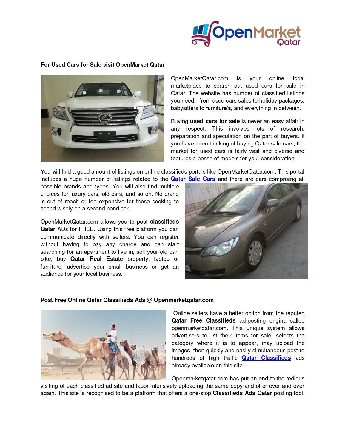 Used Cars For Sale In Qatar by Openmarket Qatar - issuu