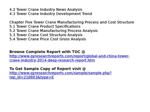 Global and china tower crane industry 2014 market trend