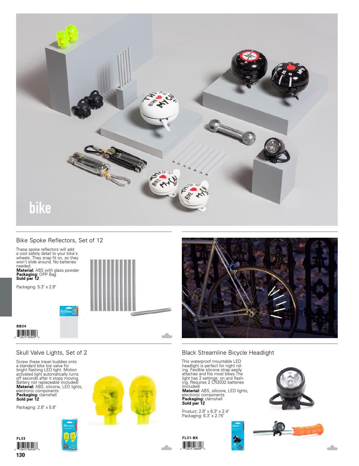Kikkerland FL33 Skull Valve Lights 2-Pack