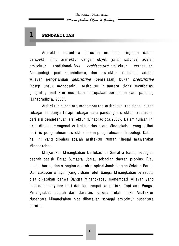 Desain Rumah Gadang Minangkabau Gambar Website